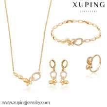 63511- Xuping Anniversary Damen Charming Schmuckset Gold