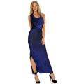Slim Slim Side Fork long evening dress