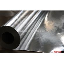 Двухсторонняя алюминиевая фольга 2-сторонняя сетка, высококачественная алюминиевая теплоизоляционная фольга изоляция