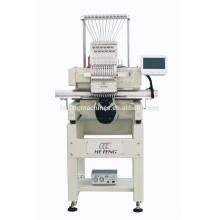 Máquina de bordar de cabeça única digital para boné / T-shirt / Flatbed