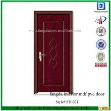 fangda intérieur mdf pvc porte