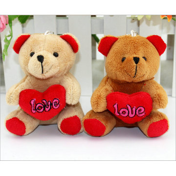 Mini Size Teddy Bear Plush Stuffed Soft Toy Keychains