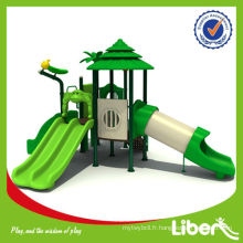 Plates-formes en plastique Playset Outdoor Playground avec Slides Woods Series LE.SL.003
