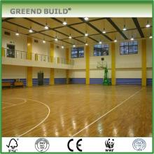 Piso de basquete de madeira de bordo