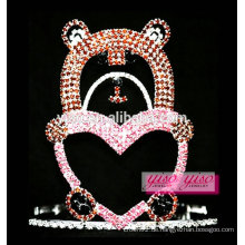 Schöne bunte Bär Schatz Kristall Großhandel Tiara
