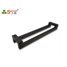 Matt Black  304 316 Grade Stainless Steel Pull Handle Double Side Design For Wooden Door