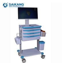 SKR023-WT bon marché Chariot d'ordinateur d'ABS d'urgence d'hôpital d'ambulance