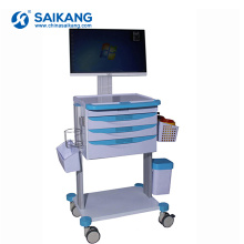 SKR023-WT Cheap Ambulance Hospital Emergency ABS Computer Trolley