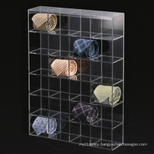 Acrylic Tie Display Stand, Clear Lucite Tie Storage Box