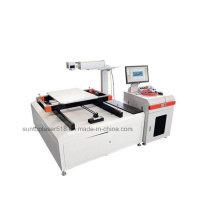 Marcador de láser de fibra de gran tamaño de marca de corte con eje de X e Y Tabla de trabajo de marcado automático