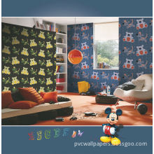 Little Bear Pvc Wallpapers , Eco-friendly Water-base Ink For Bed Room