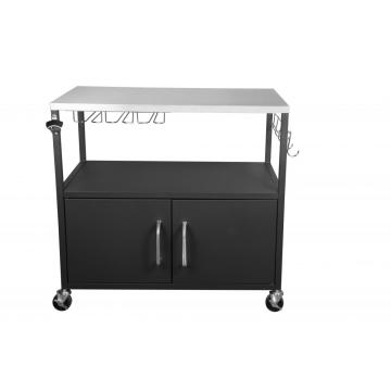 Outdoor Table Cart with Cabinet with Hooks