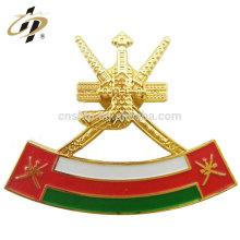 Wholesale custom zinc alloy enamel Oman badge lapel pin