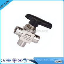 Gas stainless steel 3pc ball valve