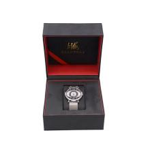 Wholesale High Quality New Design MDF+PU leather Custom Logo Printed Luxury Watch Box