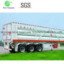 Semirremolque contenedor de capacidad 24,5 m3 con 10 tubos