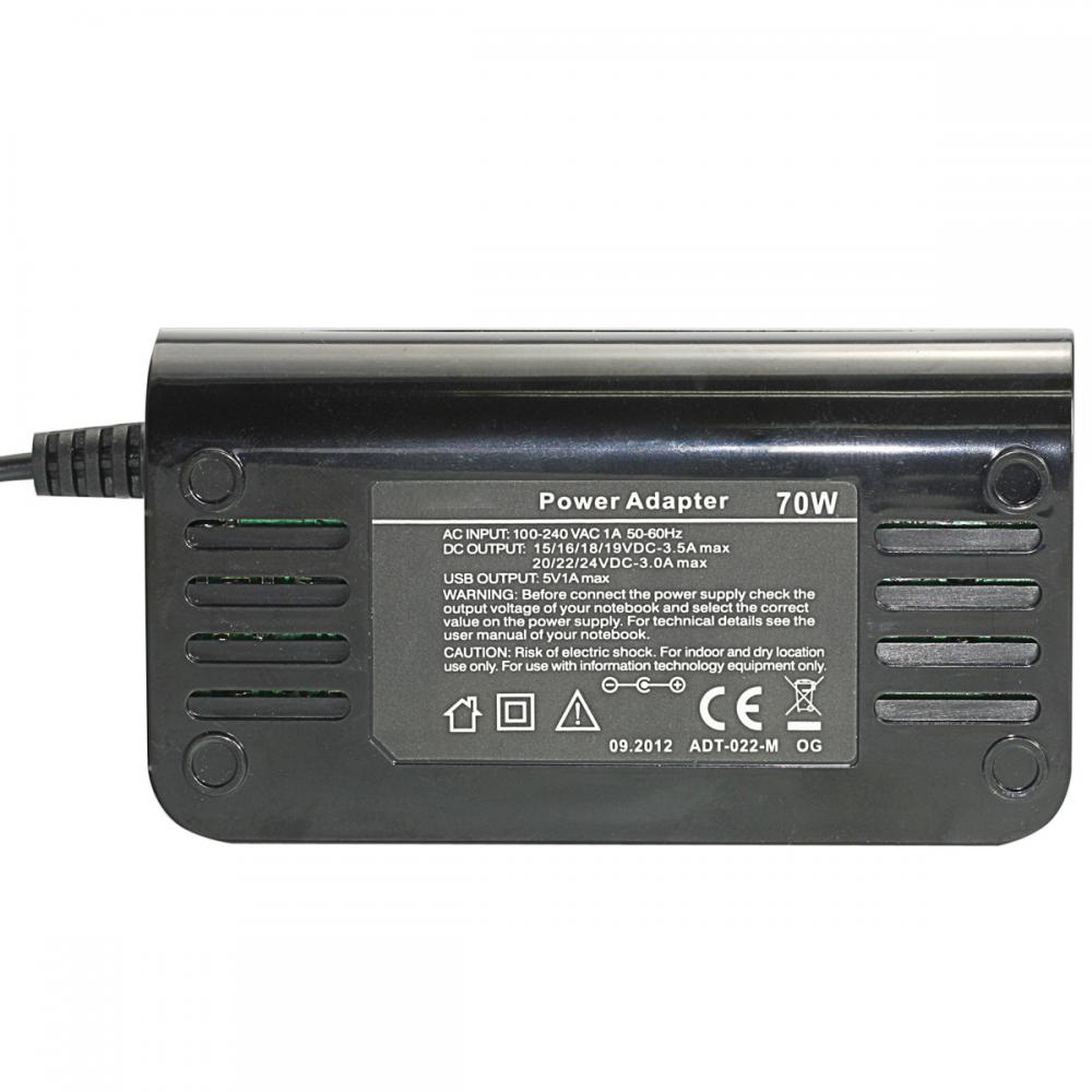 Manual Adaptador Universal para Notebook 70W