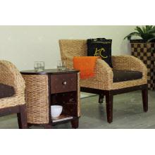 2017 Único productos sofá de jacinto de agua para muebles de sala de estar interior