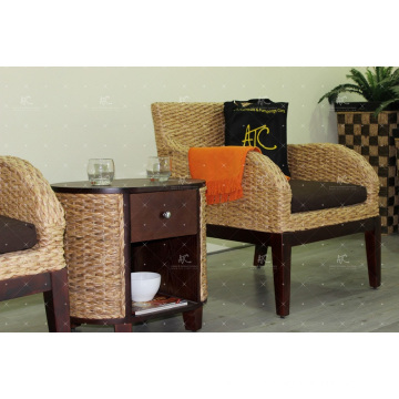 2017 Unique Products Water Hyacinth Sofa Set for Indoor Living Room Furniture