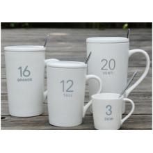 Tazas mate promocionales, Tazas de cerámica de cristal digital. Personalización de la taza publicitaria