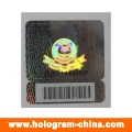 3D Laser Security Barcode Hologram Stickers