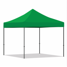 Carpa plegable verde Tela personalizada y pared lateral