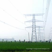 220kv Double Circuit Transmission linéaire Transmission d'acier