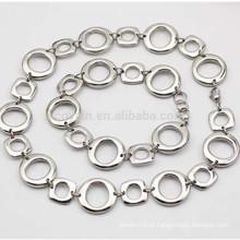 Custom diferente forma de aço inoxidável Link Chain Necklace