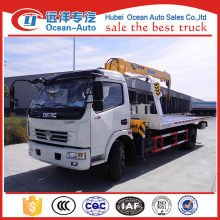 new condition DFAC DLK wrecker crane , truck mounted XCMG 3.2ton crane