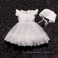 2018 summer new baby dress white color dress girl with hat for birthday