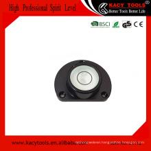 semi circle Aluminium Housing Bullseye Level Spirit Level with Mounting Hole