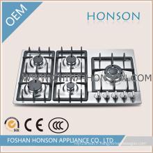 Équipement de cuisine Plaque de cuisson à gaz 5 brûleurs de bonne qualité