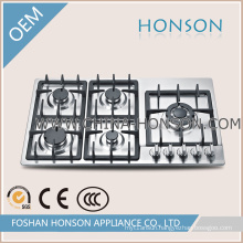 Kitchen Equipment 5 Burners Gas Hob with Good Quality