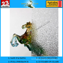 3-8mm Clear Diamond Patterned Figured Glass with AS/NZS 2208
