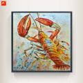 Crab Lobster Art Print Marine Oil Painting