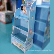 Paper Display Shelf, Floor Cardboard Display Stand
