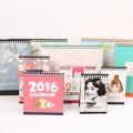 2017 Customzied Art Paper Impresión profesional del calendario del escritorio del diseño