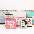 2017 Customzied Art Paper Professional Design Desk Calendrier Impression