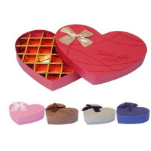 Boîte de papier de chocolat de 10-30 cadres, boîte en forme de coeur de boîtes de chocolat