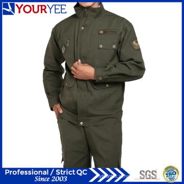 Novo estilo workwear uniforme terno verde escuro (ymu107)