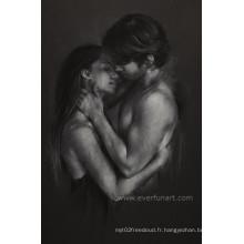 Peinture nue abstraite moderne d'hommes et de femmes