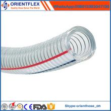 Tuyau renforcé de fil d'acier de PVC de lumière de spirale de haute qualité