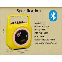 Mini altavoz portátil inalámbrico Bluetooth con cubierta de material de inyección de color y mango F105