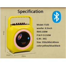 Portable Wireless Mini Bluetooth Speaker with Colorful Injection Material Cover and Handle F105