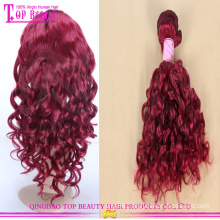 New arrival red hair weave high-end fashion red hair 8a grade high quality red human hair weaving