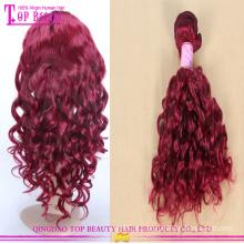 Novo cabelo de chegada vermelho tecer high-end moda cabelo vermelho 8a série alta qualidade vermelho cabelo humano tecelagem