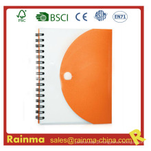 Caderno de papel de capa de PVC para brinde promocional