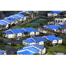 Blue Hurricane Poly Tarps