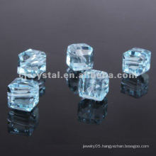 Flat square lampwork glass beads