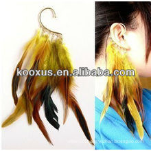 new products for 2014 fashion feather earring